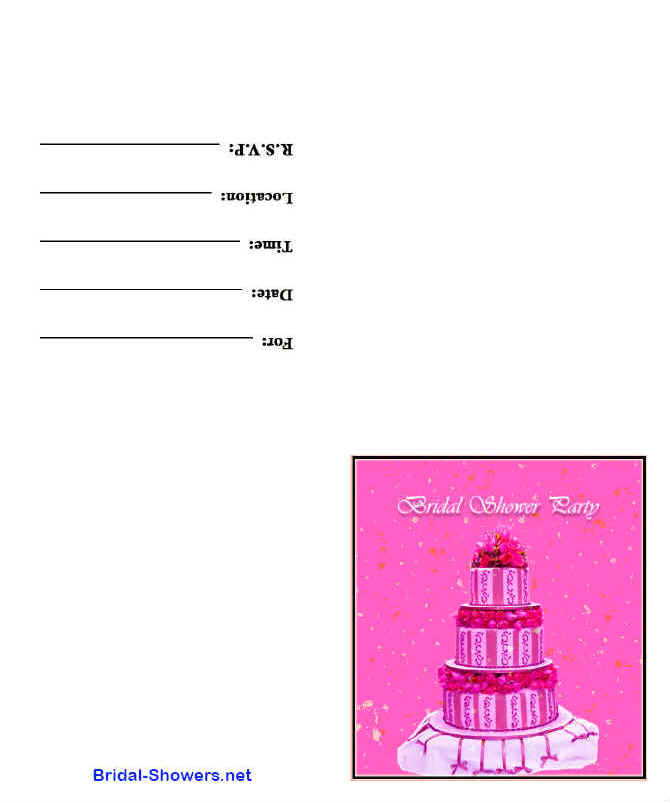 Free Printable Bridal Shower Party Invitations